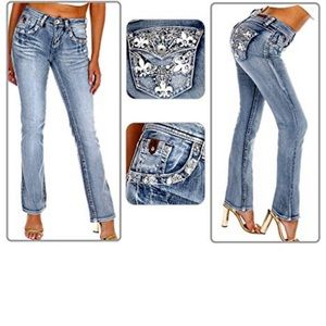 Sexy Couture Blue Boot Cut Jeans S477BP